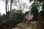 Me at Ta Prohm wearing a silly hat