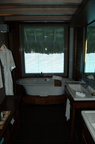 Bathroom in our overwater bungalow