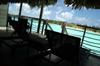 Deck of our overwater bungalow